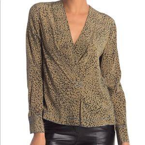 Leopard silk top